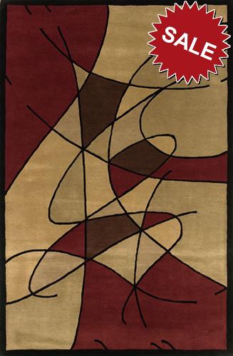 Oriental Weavers Artworks 22057 Loopholes Burgundy Closeout Area