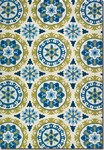 Couristan Covington 2238/0802 Astral Azure/Lemon Closeout Area Rug - Spring 2015