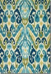 Couristan Covington 2263/0702 Delfina Azure/Lemon Area Rug
