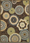 Couristan Covington 2396/0007 Stella Chocolate/Multi Closeout Area Rug - Spring 2017
