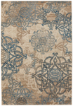 Capel Abbey 2461-745 Celtic Beige Blue Area Rug