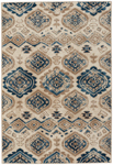 Capel Abbey 2462-640 Diamond Mushroom Blue Area Rug