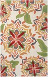 Rug Market Resort 25360 Andalucia Cream/Green/Red Closeout Area Rug