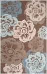 Rug Market Resort 25361 Maztlan Brown/Beige/Blue Closeout Area Rug