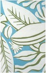 Rug Market Resort 25368 Tropicana Blue/Green/White Closeout Area Rug