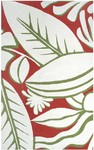 Rug Market Resort 25381 Tropicana Red/Green/White Closeout Area Rug