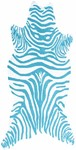 Rug Market Resort 25391 Zebra Teal/White Area Rug