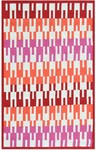 Rug Market Resort 25393 Zipper Pink/Orange/Green Closeout Area Rug