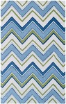 Rug Market Resort 25394 Capetown Blue/Green/White Area Rug