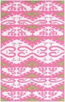 Rug Market Resort 25396 Kampala Cream/Pink/Green Closeout Area Rug