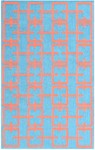 Rug Market Resort 25399 Hampton Coral/Aqua Closeout Area Rug