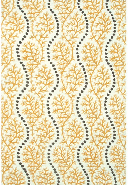 Rug Market Resort 25439 Coral Cascade Yellow Grey White