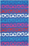 Rug Market Resort 25457 Hepburn Blue/Red/White/Pink Area Rug