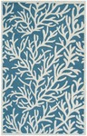Rug Market Resort 25460 Reef Blue/Cream Closeout Area Rug