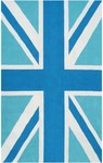Rug Market Resort 25463 Union Jack Blue/Aqua/White Area Rug