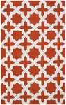 Rug Market Resort 25466 Escher Orange/White Area Rug