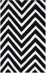 Rug Market Resort 25467 Gamma Black/White Area Rug