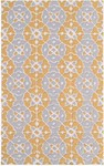 Rug Market Resort 25490 Nantucket Grey/Yellow/Cream Closeout Area Rug