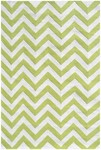 Rug Market Kids Tween 25607 Chevron Lime/White Area Rug