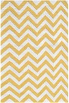 Rug Market Kids Tween 25610 Chevron Yellow/White Area Rug