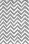 Rug Market Kids Tween 25612 Chevron Grey/White Area Rug
