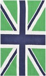 Rug Market Kids Tween 25613 Union Jack Green/Navy Area Rug
