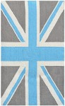 Rug Market Kids Tween 25614 Union Jack Grey/Blue Area Rug