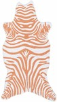 Rug Market Kids Safari 25616 Mini Zebra Tangerine/White Area Rug