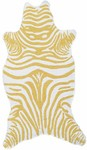Rug Market Kids Safari 25619 Mini Zebra Yellow/White Area Rug