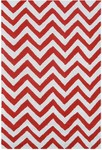 Rug Market Kids Tween 25622 Chevron Red/White Area Rug