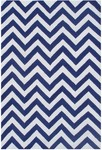 Rug Market Kids Tween 25623 Chevron Blue/White Area Rug