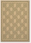 Couristan Five Seasons 3071/0114 Charleston Cream/Green Closeout Area Rug - Spring 2011