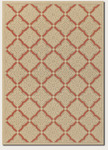 Couristan Five Seasons 3077/0011 Sorrento Cream/Terra-Cotta Closeout Area Rug - Spring 2016
