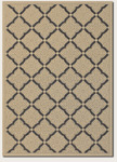 Couristan Five Seasons 3077/0016 Sorrento Cream/Black Closeout Area Rug - Spring 2016