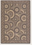Couristan Five Seasons 3084/1142 Sundial Cream/Brown Closeout Area Rug