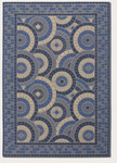 Couristan Five Seasons 3084/1143 Sundial Cream/Blue Closeout Area Rug - Spring 2016