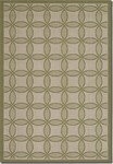 Couristan Five Seasons 3094/2342 Retro Clover Green/Cream Closeout Area Rug - Spring 2016