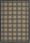 Couristan Five Seasons 3094/4016 Retro Clover Black/Cream Closeout Area Rug - Spring 2016