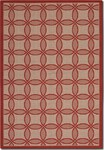 Couristan Five Seasons 3094/4021 Retro Clover Red/Natural Closeout Area Rug - Spring 2016