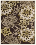 Feizy Saphir Mah 3095F Dark Chocolate/Sage Closeout Area Rug