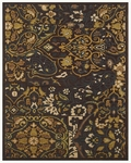 Feizy Saphir Adur 3096F Dark Chocolate/Teal Closeout Area Rug