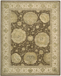 Nourison 3000 3106 BRN Brown Closeout Area Rug