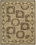 Nourison 3000 3107 BRN Brown Closeout Area Rug