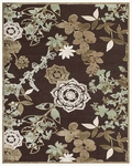 Feizy Saphir Mah 3111F Dark Chocolate/Sage Closeout Area Rug