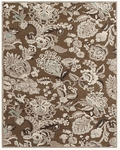 Feizy Saphir Zam 3112F Coffee/Grey Closeout Area Rug