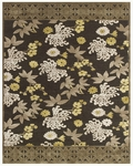 Feizy Saphir Mah 3114F Dark Gray/Green Closeout Area Rug