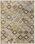 Feizy Saphir Mah 3200F Dark Chocolate/Sage Closeout Area Rug