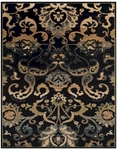 Feizy Starnes 3235F BLK Black Closeout Area Rug