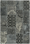 Capel Cosmic 3246-350 Patchwork Silver Black Area Rug