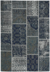 Capel Cosmic 3246-400 Patchwork Blue Grey Area Rug